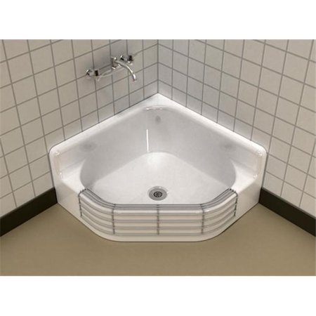 Clinic Service Sink (SONG S-3040 Coated Wire Rim Guard Service Sink - White)
