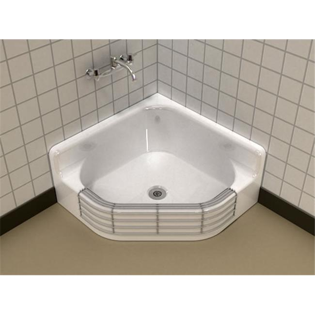 SONG S-3040 Coated Wire Rim Guard Service Sink - White