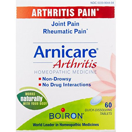 4 Pack Boiron Arnicare Arthritis Rheumatic Pain Relief Homeopathic 60 Tablets Ea