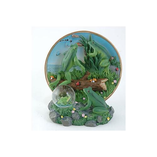 Frog Plate with Water Globe