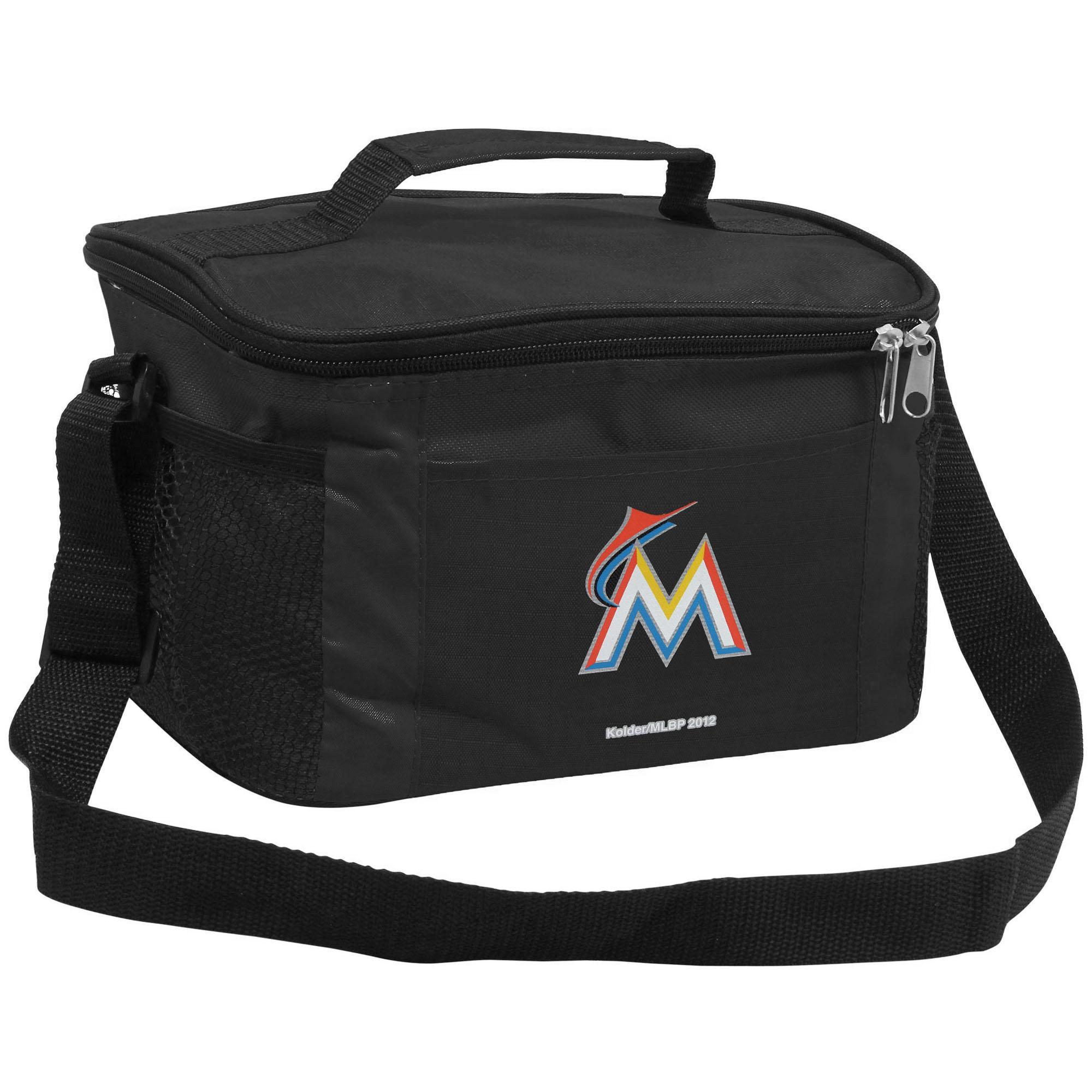 Miami Marlins Black 6-Pack Kooler Tote - No Size