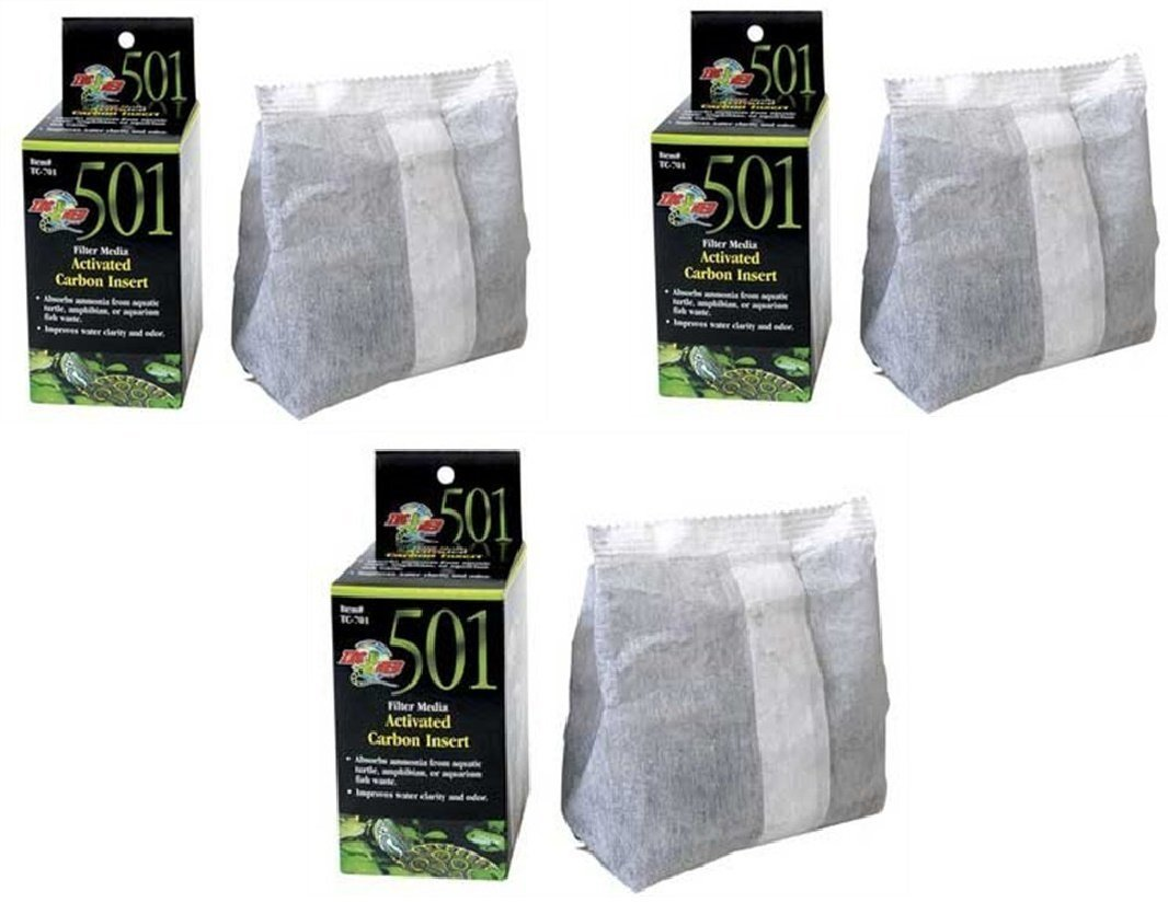 (3 Pack) Turtle Clean 15 Activated Carbon Inserts By Zoo Med by