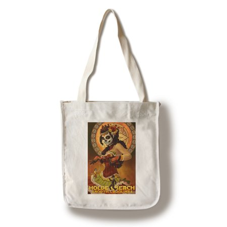 Holden Beach, North Carolina - Day of the Dead Marionettes - Lantern Press Poster (100% Cotton Tote Bag - Reusable)