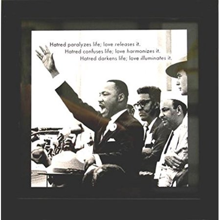 Professionally Framed Martin Luther King with Quote 12x12 Art Poster Print Famous Quote Motivational Inspirational MLK Civil Rights Movement GREAT ART Communication Framed Motivational Print