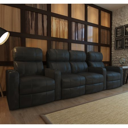 Octane Turbo XL700 4 Seater Middle Loveseat Bonded Leather Home Theater Seating