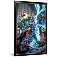Marvel Adventures The Avengers No.31 Cover: Thor Framed Print Wall Art By Salvador Espin