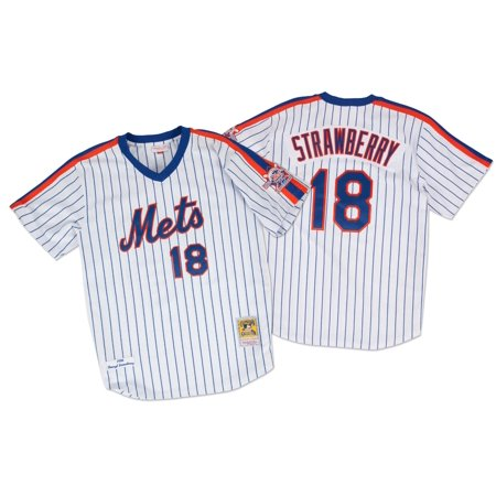 Darryl Strawberry New York Mets Mitchell & Ness Authentic 1986 Pullover Jersey by
