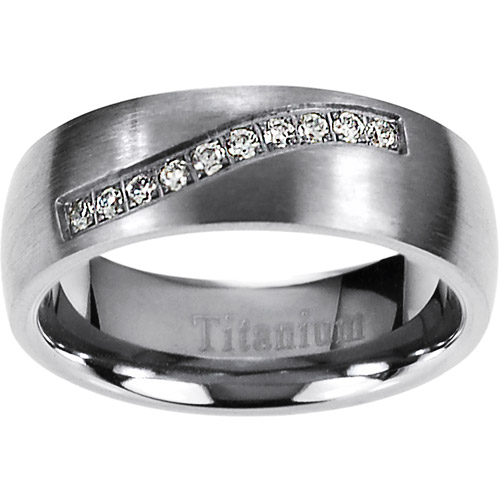 Daxx Men's CZ Titanium Ring