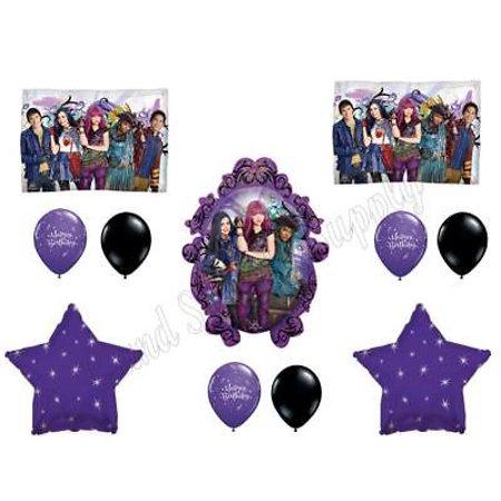 DESCENDANTS 2 Happy Birthday Party Balloons Decoration Supplies Movie Wicked