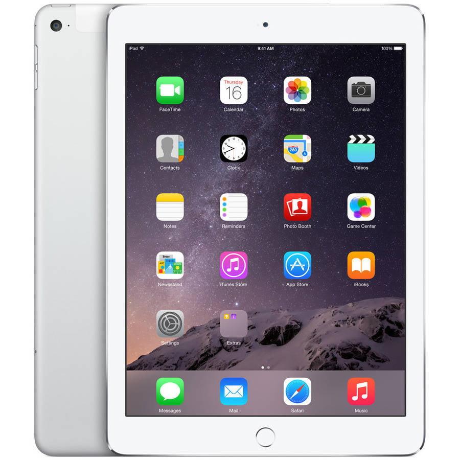 Apple iPad Air 2 16GB, Refurbished Wi-Fi + Cellular, Silver
