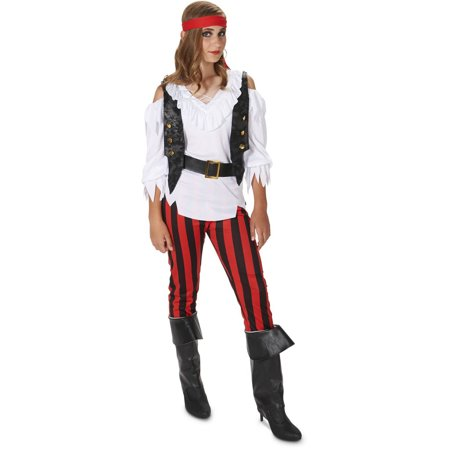 Rebellious Pirate Girl Child Halloween Costume