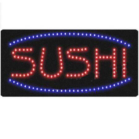 19 Inch Switch (UbiGear 10 19 inch Animated Motion LED Restaurant Business Sushi Sign On/off Switch Open Light)