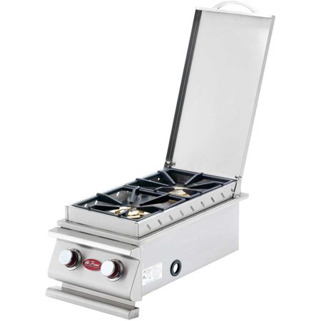 Deluxe Stainless Steel Built-In Dual Fuel Gas Double Side (Square Flat Stainless Steel Burner)