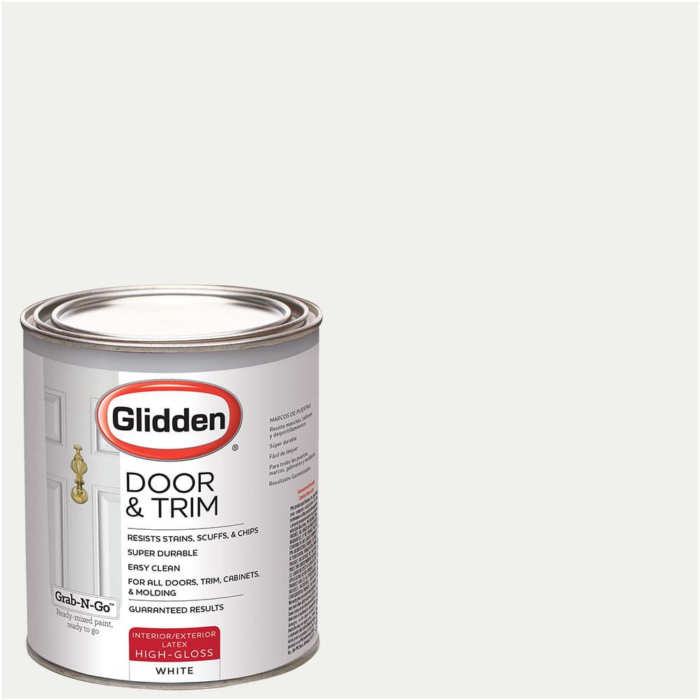 Glidden Door & Trim Paint, Grab-N-Go, High Gloss Finish,1 Quart