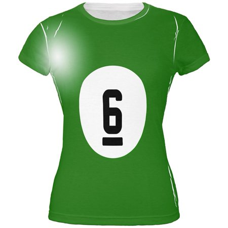 Halloween Billiard Pool Ball Six Costume Juniors T Shirt (Watch Halloween 6)
