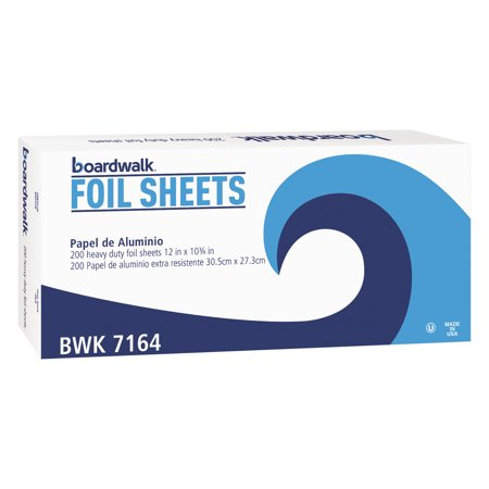 Boardwalk Pop-Up Aluminum Foil Sheets, 200 count, (Pack of 12) -BWK7164 ()