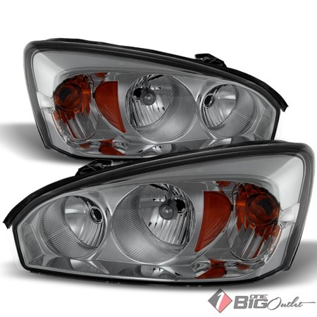 For 2004 2007 Malibu Smoked Lens Headlights Embly Bulbs Replacement Lh Rh Set Pair Left Right 2005 2006