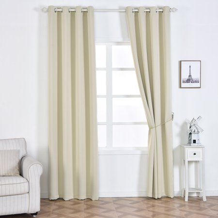 Balsacircle 52 X 108 Inch 2 Panels Blackout Polyester Curtains Drapes With Grommet Top Home Window Treatments Decorations