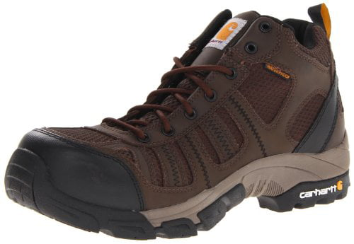 "Carhartt Men's 4"" Lightweight Waterproof Composite Toe Work Hiker Boot CMH4370,Apache Brown Leather/Brown Nylon,13 M US"