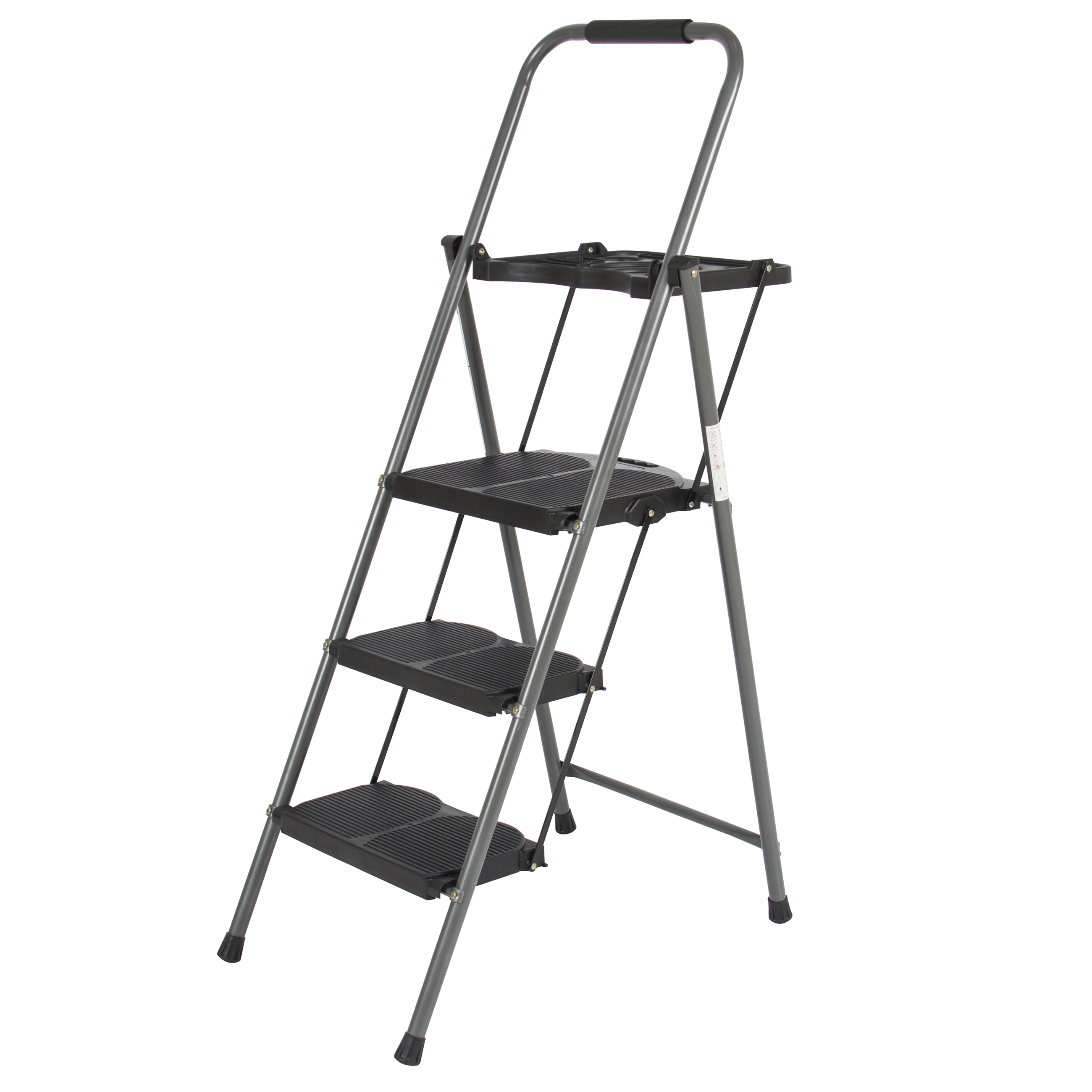 3 Step Ladder Platform Lightweight Folding Stool 330 Lbs