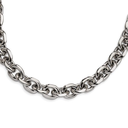 Stainless Steel 24.5in Chain Necklace Pendant Charm Cable Fashion Jewelry Gifts For Women For Her - image 7 of 7