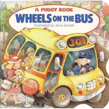 Wheels on the Bus (Board Book) - Halloween Books For Toddlers