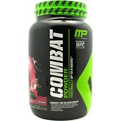 MusclePharm Combat Protein Powder, Triple Berry, 25g Protein, 2 Lb