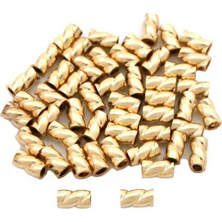 50 Gold Filled Crimp Tube Beads Jewelry Beading (Tube Beads Jewelry)