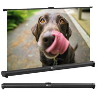 Houzetek Projector Screen, 32 inch Portable Projection Screen,16:9 Foldable Anti-crease Movie Screen for Home Theater Indoor Outdoor