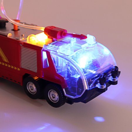 2 Types Firefighters Fire Engines Electric Universal Toy Car Can Water Sprey with Music Colorful Lights - image 1 de 8