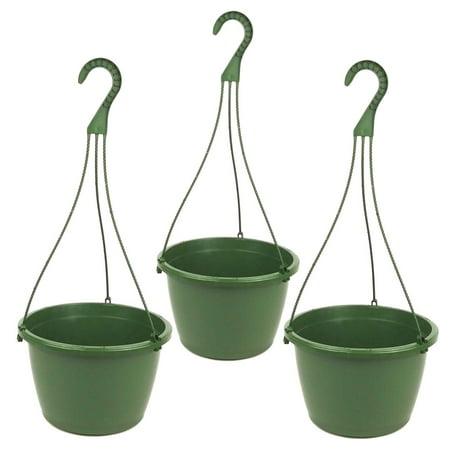 10 inch plastic hanging basket green 3 pack. Black Bedroom Furniture Sets. Home Design Ideas