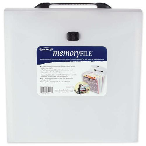 """Memory File Expandable Storage Case-Frost 12""""X12"""""""