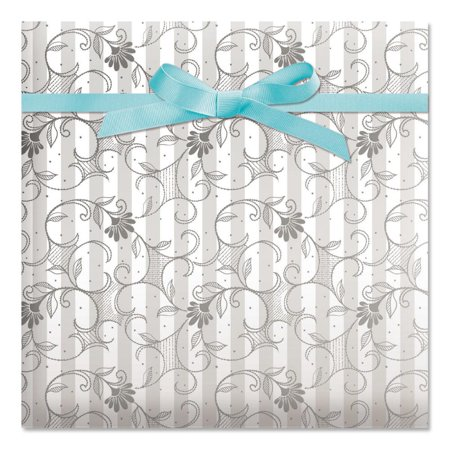 Wedding Jumbo Rolled Gift Wrap - 72 sq. ft.