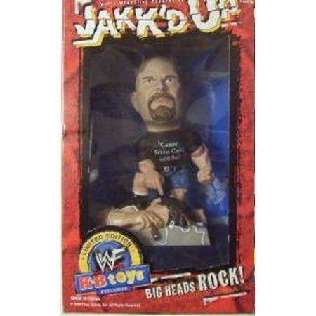 World Wrestling Federation Jakk'd Up Big Heads Rock Limited Edition Stone Cold Steve Austin, CAME OUT IN 1998 By WWF From USA (Steve Head)