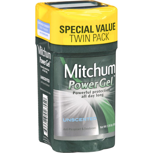Mitchum Power Gel Unscented Anti-Perspirant & Deodorant, 2.25 oz, (Pack of, 2)