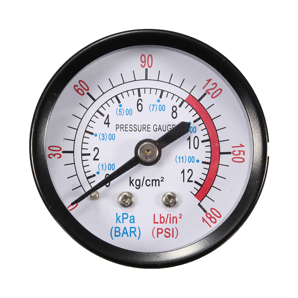 New 0-180PSI Air Compressor Pneumatic Hydraulic Fluid Pressure Gauge 0-12Bar \