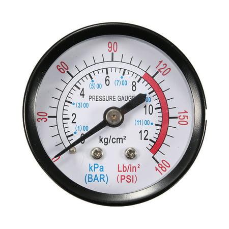 012bargauge 52mm 2 inch Air Pressure Pneumatic Hydraulic Fluid Pressure Gauge Meter 1/4