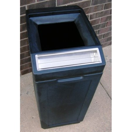 - Forte Product Solutions Sidekick Open Top Waste Container with Ashtray