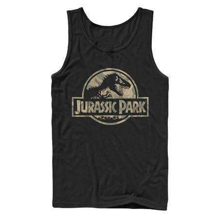 Jurassic Park Men's Camo Logo Tank Top