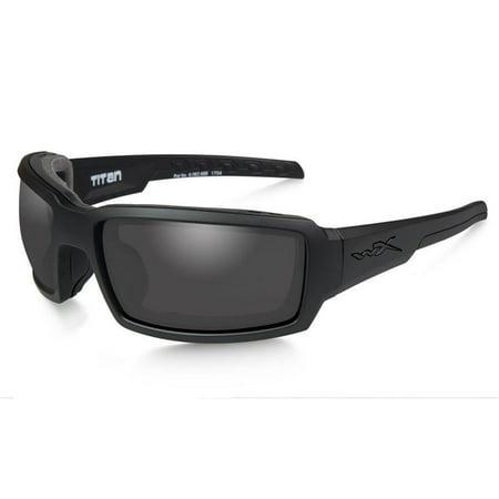 Wiley X WX Titan Men's Sunglasses, Smoke Grey Lens / Matte Black Frame - CCTTN01 (Frame Grey Lens Sunglasses)