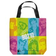 Beverly Hills 90210 Color Blocks Tote Bag White 18X18