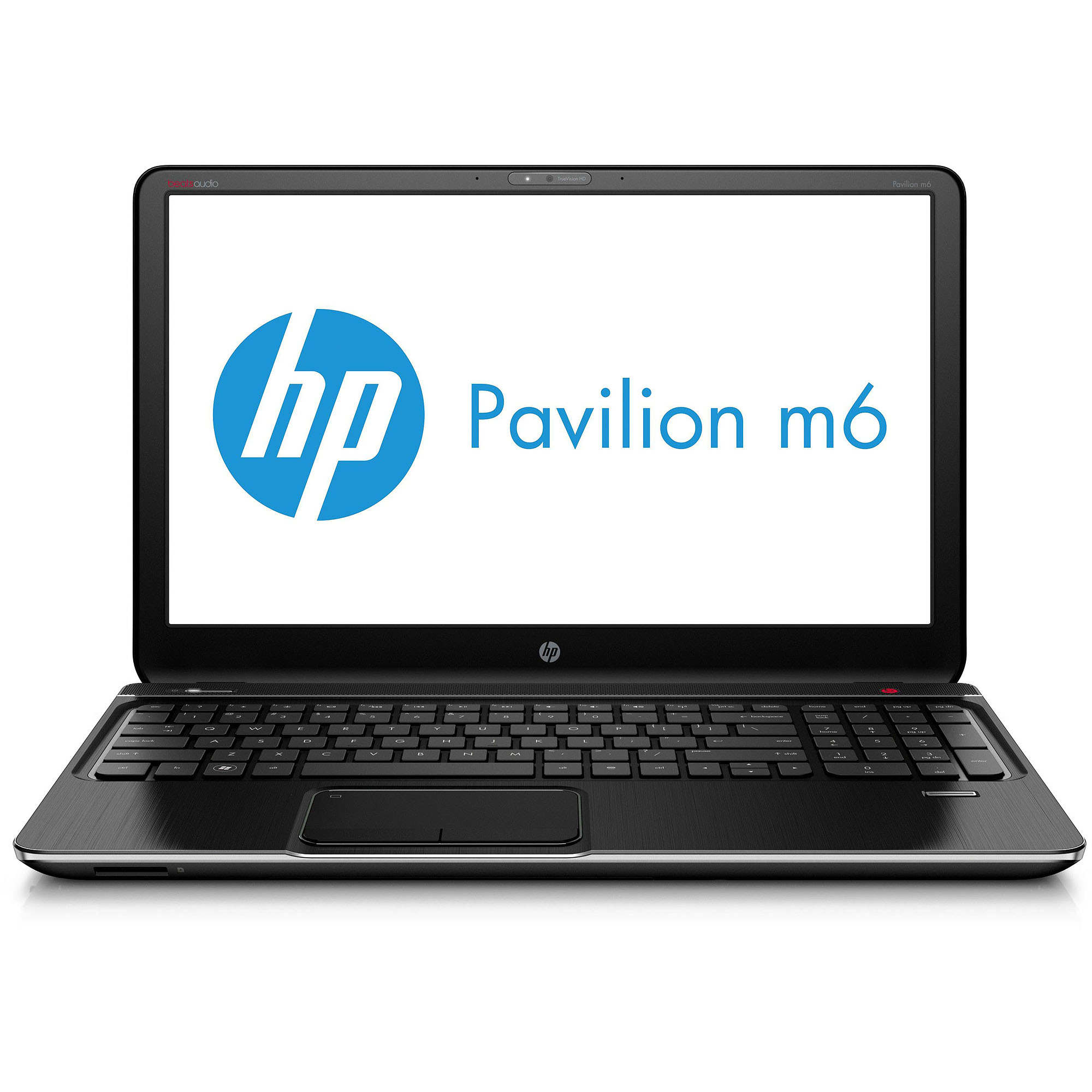 """HP Midnight Black 15.6"""" Refurbished Pavilion m6-1035dx Laptop PC with AMD Quad-Core A10-4600M Accelerated Processor and Windows 7 Home Premium"""
