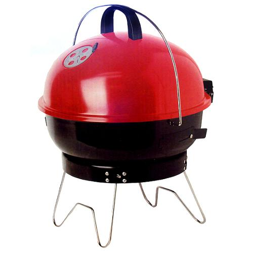 """20"""" Red and Black Portable Outdoor Charcoal BBQ Grill"""