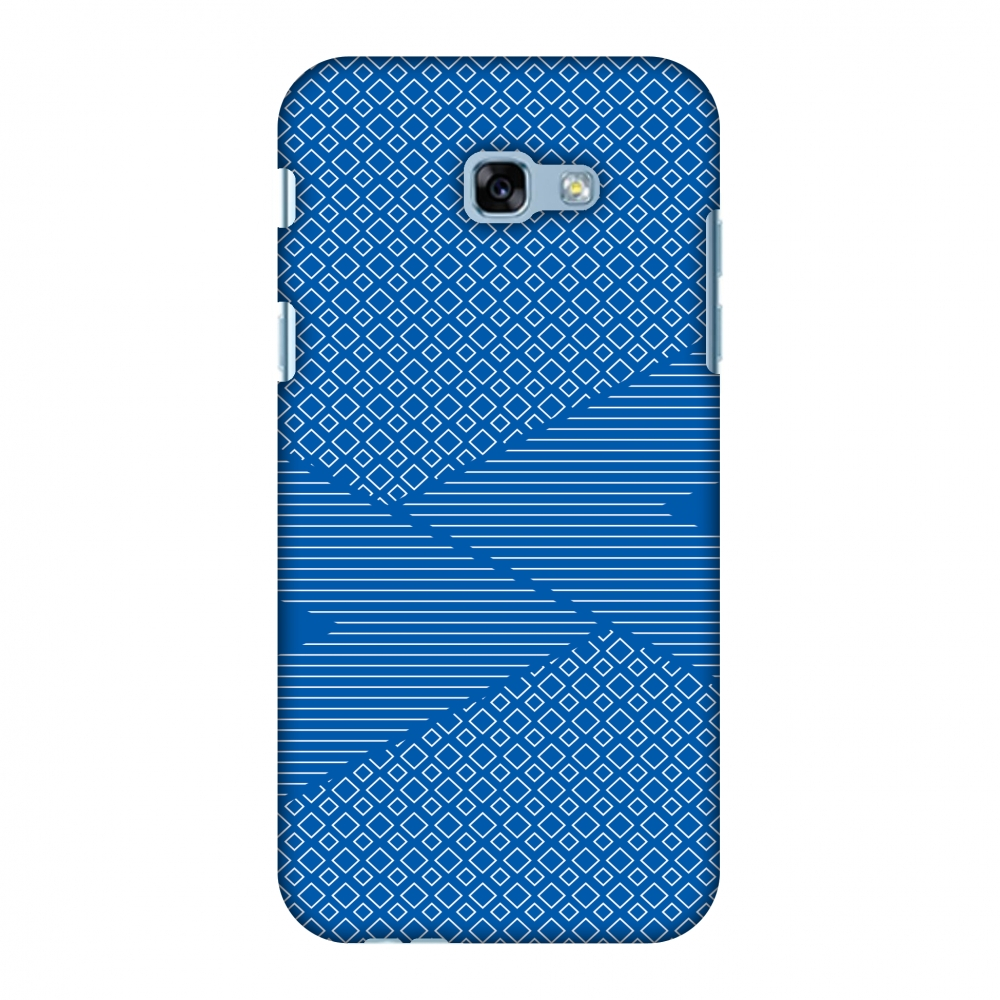 Samsung Galaxy A5 2017 Case, Premium Handcrafted Printed Designer Hard ShockProof Case Back Cover with Screen Cleaning Kit for Samsung Galaxy A5 2017 - Carbon Fibre Redux Coral Blue 6