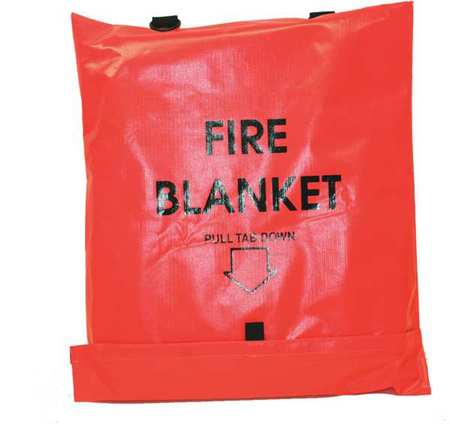 Fire Blanket,Gray,84 in. L x 62 in. W FIRST VOICE 911-83700TS