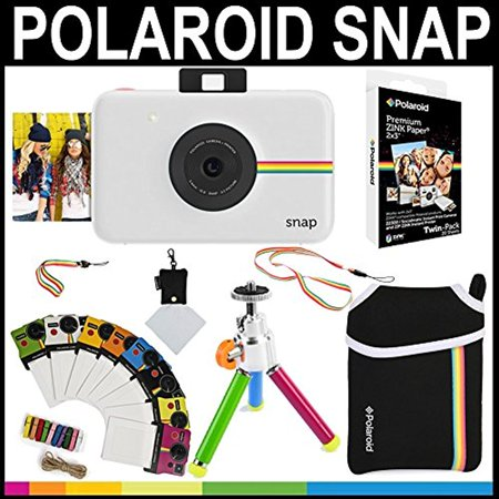 Polaroid Snap Instant Camera White 2x3 Zink Paper 20 Pack
