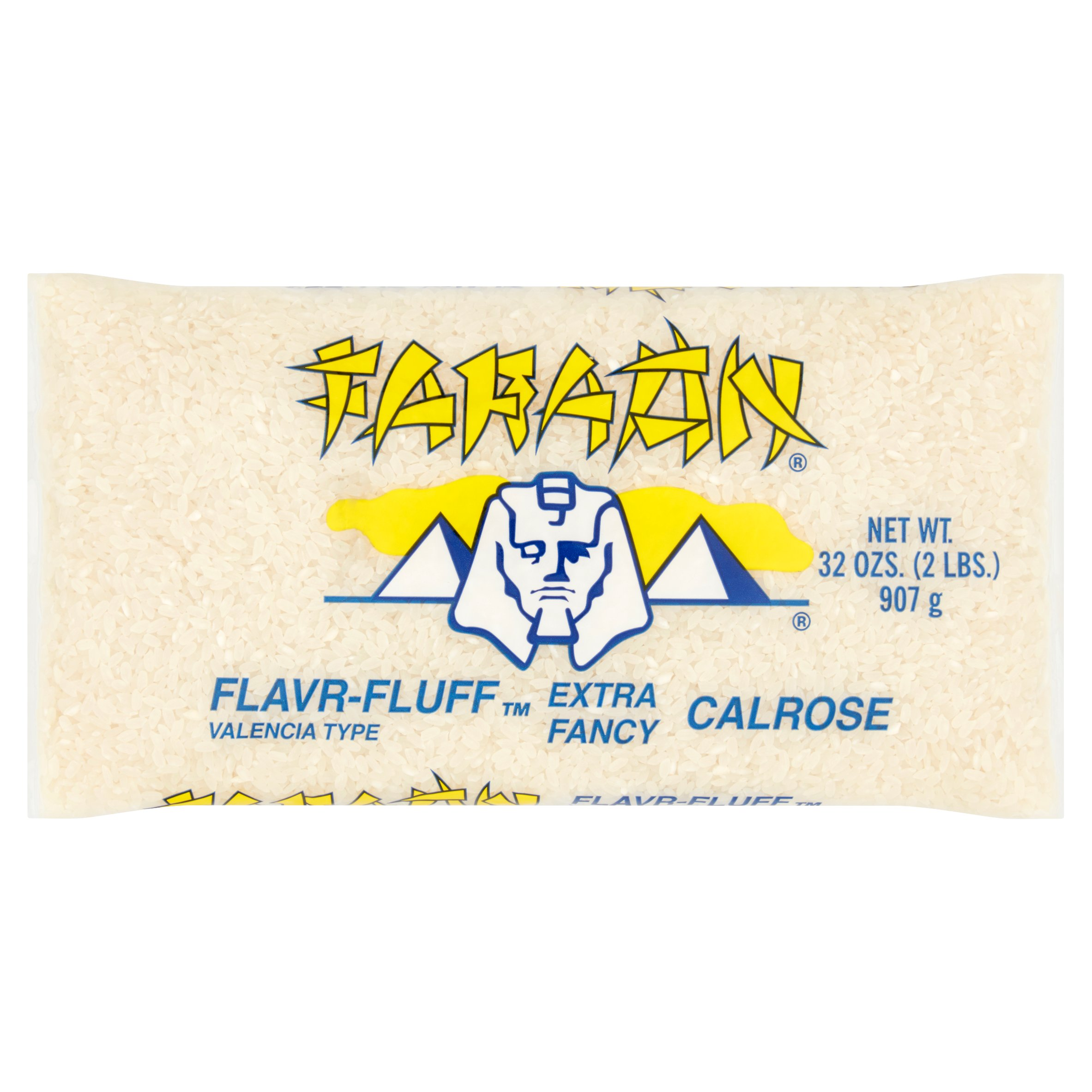 (2 Pack) Faraon Flavr-Fluff Valencia Type Extra Fancy Calrose Rice, 32 oz