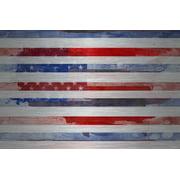 """Parvez Taj """"Striped Glory"""" Print on Brushed Aluminum"""