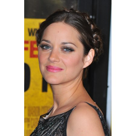 Stretched Canvas Art - Marion Cotillard At Arrivals For Contagion Premiere - Small 8 x 10 inch Wall Art Decor Size.
