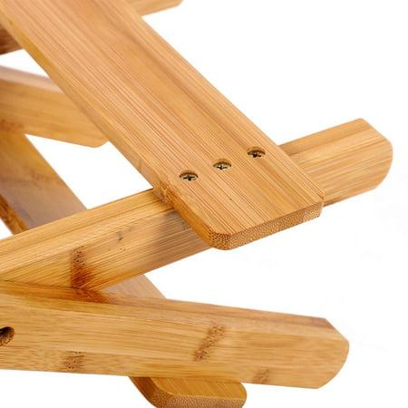 Ejoyous Bambou pliant tabouret Portable ménage réel en bois chaise de pêche extérieure pliable petite chaise, tabouret pliable, tabouret en bambou - image 6 de 6